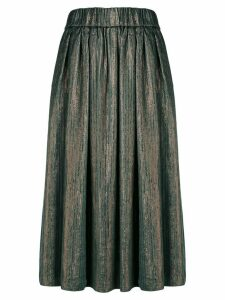 Forte Forte metallic midi skirt - Green