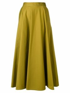 Bottega Veneta long pleated skirt - Green