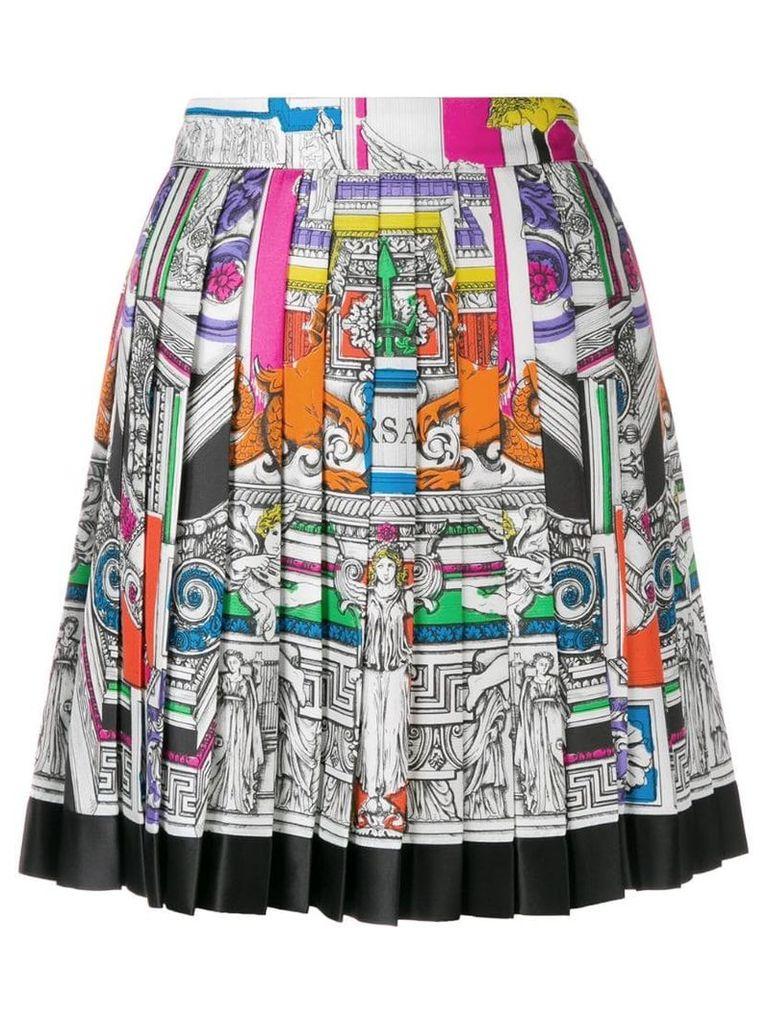 Versace Il Tempio pleated skirt - White