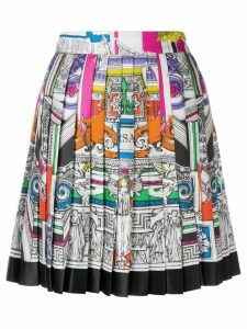 Versace Il Tempio pleated skirt - White