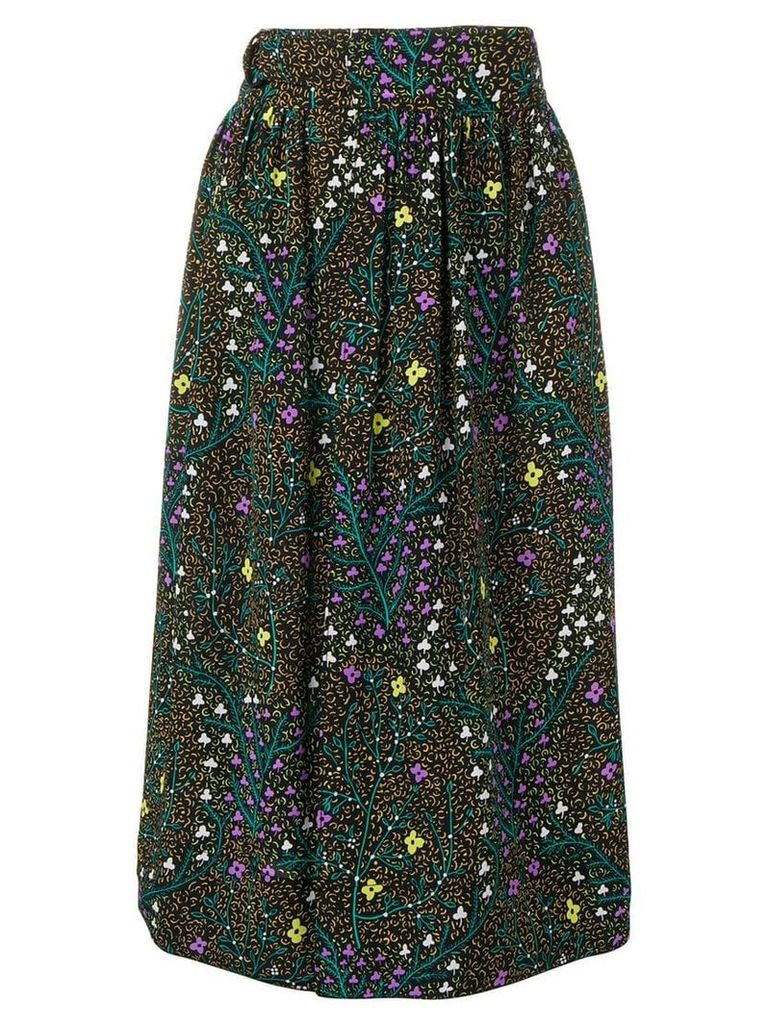 Joseph floral pleated skirt - Black
