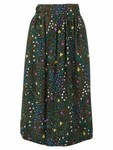 Joseph floral pleated skirt - Black