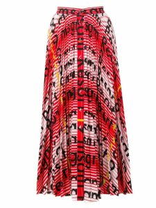 MSGM printed pleated skirt - Red