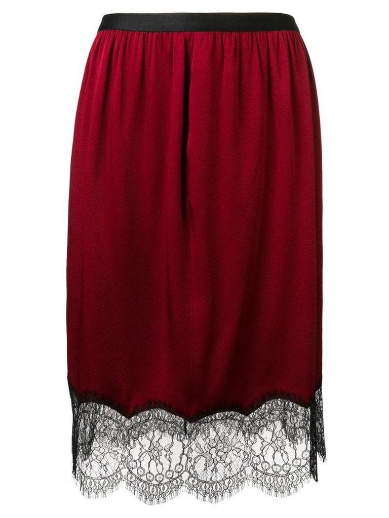 Joseph lace hem skirt - Red