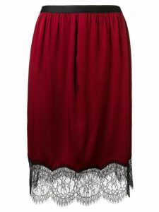 Joseph lace hem skirt - Red