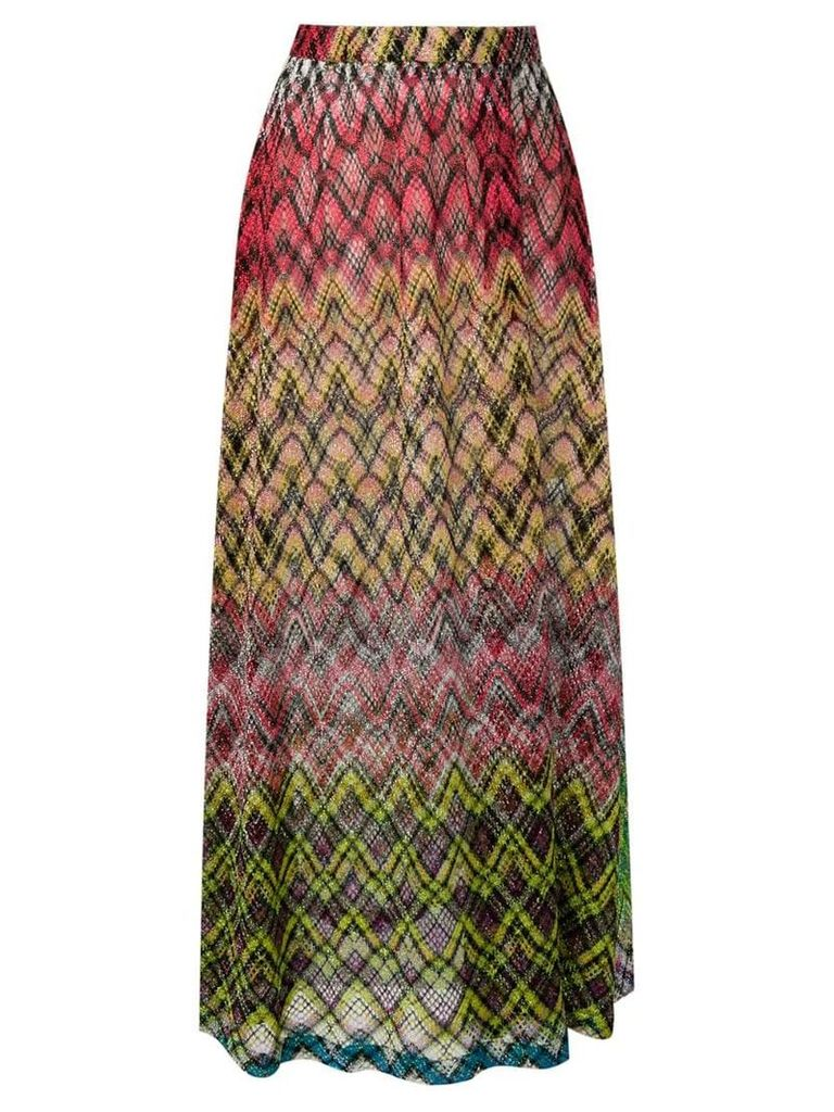 Missoni Mare knitted maxi skirt - Yellow