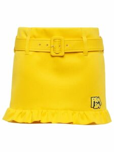 Prada belted short skirt - Yellow