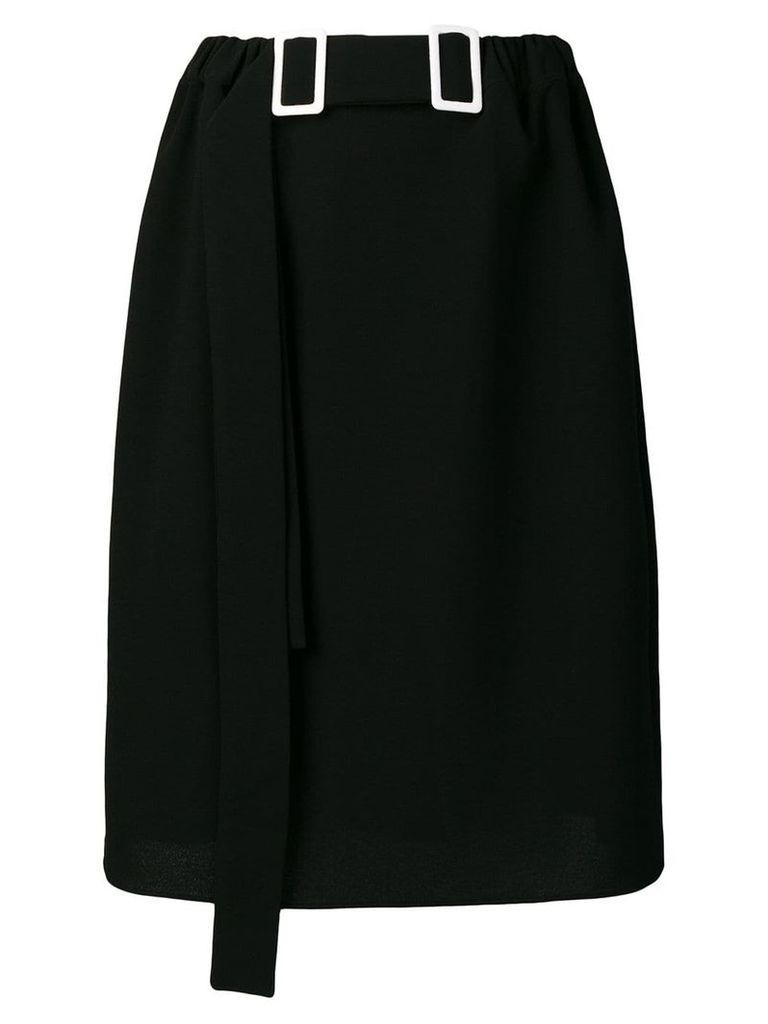 Edeline Lee double-buckle pencil skirt - Black