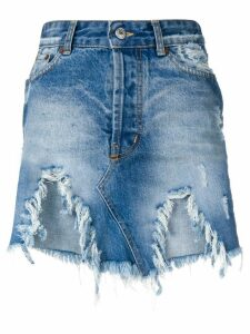 Forte Dei Marmi Couture destroyed denim skirt - Blue