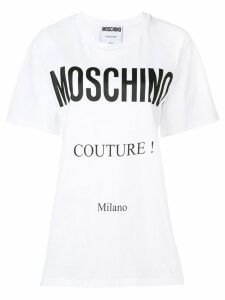 Moschino logo patch T-shirt - White