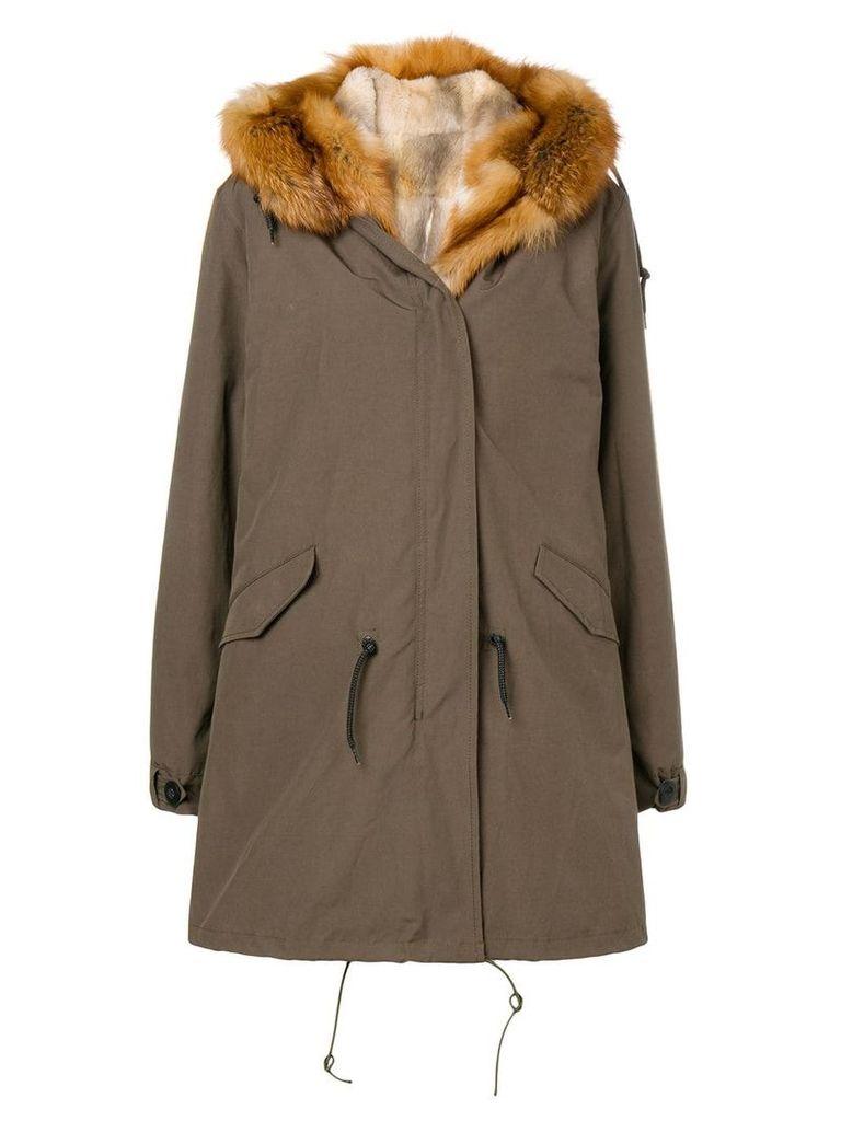 Liska parka fur-lined coat - Green