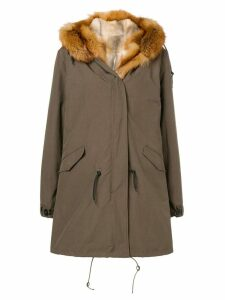 Liska parka fur-lined coat - Green