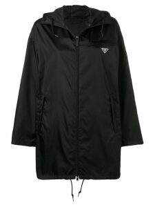 Prada hooded satin-shell parka - Black
