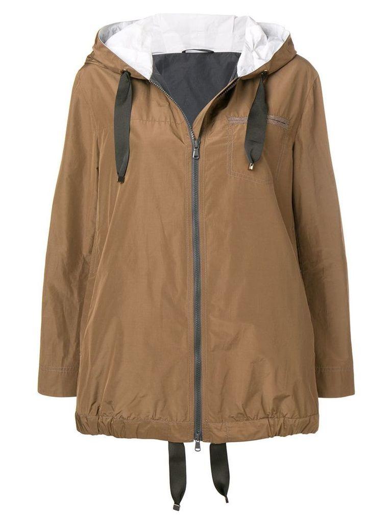 Brunello Cucinelli short parka coat - Brown