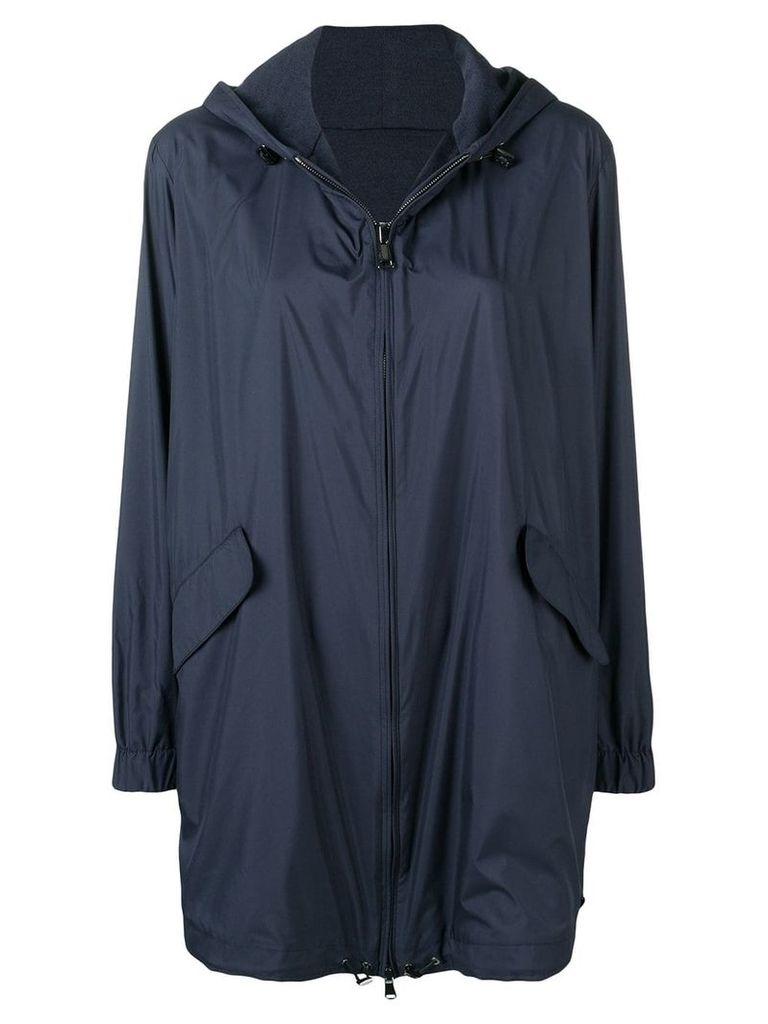 Manzoni 24 hooded parka coat - Blue