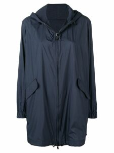 Manzoni 24 hooded parka coat - Blue