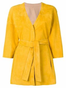 Drome wrap-around midi coat - Yellow