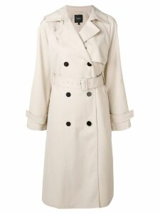 Theory belted trench coat - Neutrals