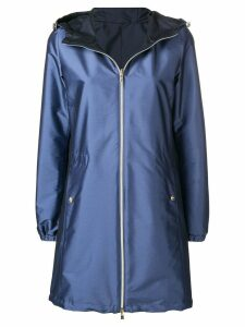 Herno reversible hooded coat - Blue