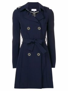 Patrizia Pepe belted trench coat - Blue