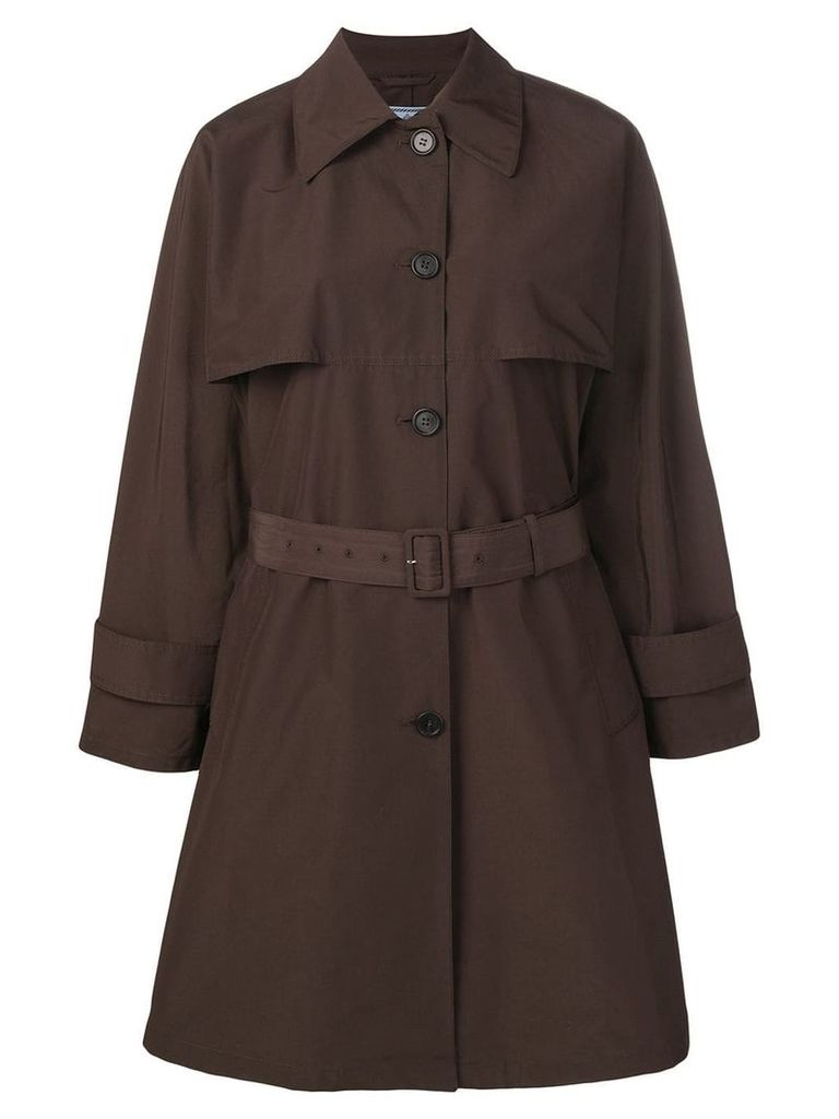 Prada single-breasted trench coat - Brown