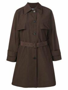 Prada single-breasted trench coat - Brown