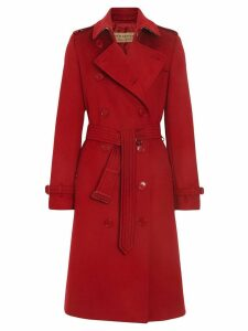 Burberry Cashmere Trench Coat - Red
