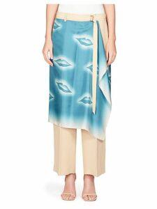 Scarf Wrap Skirt Pants