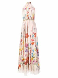 Blumarine floral printed gown - Pink