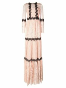 Marchesa Notte mid length lace dress - Pink