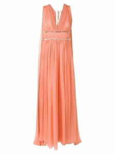 Alberta Ferretti draped empire line dress - Orange