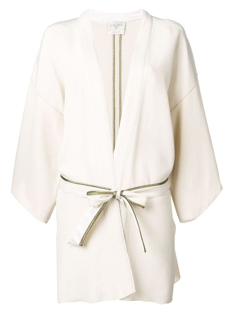 Forte Forte belted kimono jacket - Neutrals