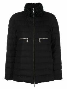 Moncler high neck puffer jacket - Black