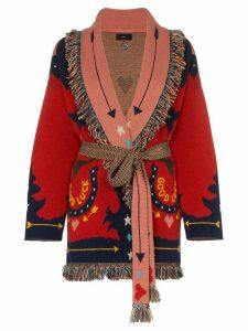 Alanui Good Luck cashmere horseshoe cardigan - Red