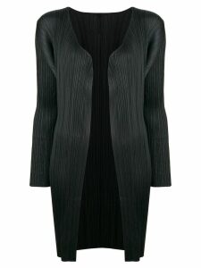 Pleats Please By Issey Miyake pleated cardigan coat - Black