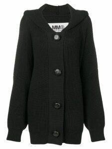 Mm6 Maison Margiela oversized hooded cardigan - Black