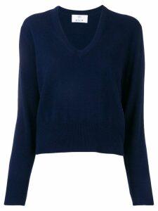 Allude V-neck jumper - Blue