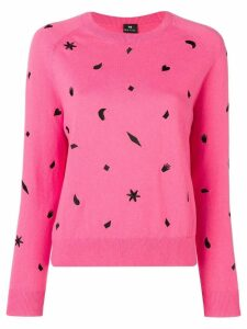 PS Paul Smith Urban Jungle embroidered jumper - Pink