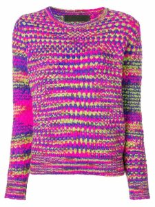 The Elder Statesman cashmere mesh knit sweater - Pink
