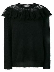 Stella McCartney ruffle-trimmed knit - Black