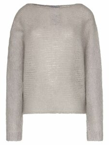 Simon Miller batwing sleeve knitted mohair wool jumper - Grey