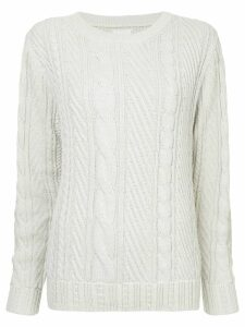 COOHEM cable knit jumper - Grey