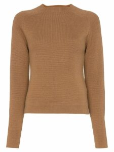 Carcel Milano crew neck alpaca wool jumper - Brown