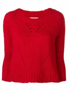 Isabel Marant Étoile cropped knit sweater - Red