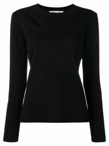 Diane von Furstenberg cut-out detail jumper - Black