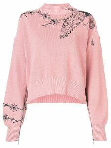 Sacai loose-fit jumper - Pink