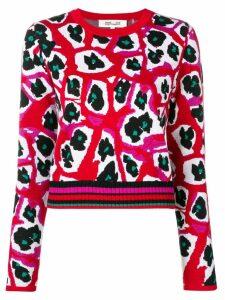 Diane von Furstenberg printed knit jumper - Red