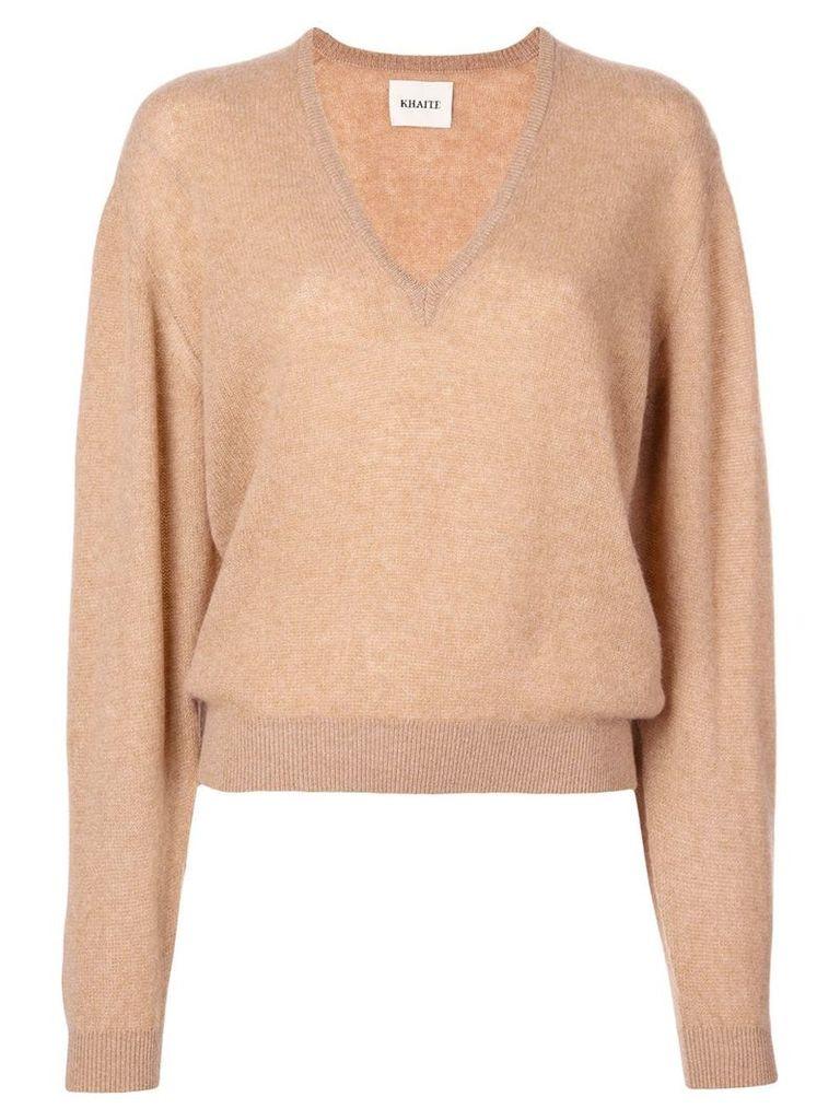 Khaite cashmere v-neck sweater - Brown