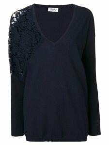 Liu Jo side lace detail jumper - Blue