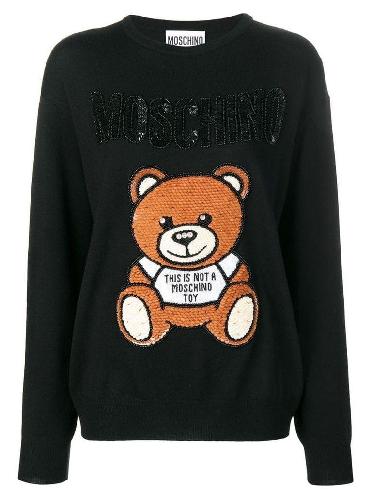 Moschino logo printed jumper - Black